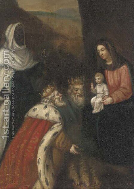 The Adoration of the Magi by (after) Pedro De Orrente - Reproduction Oil Painting