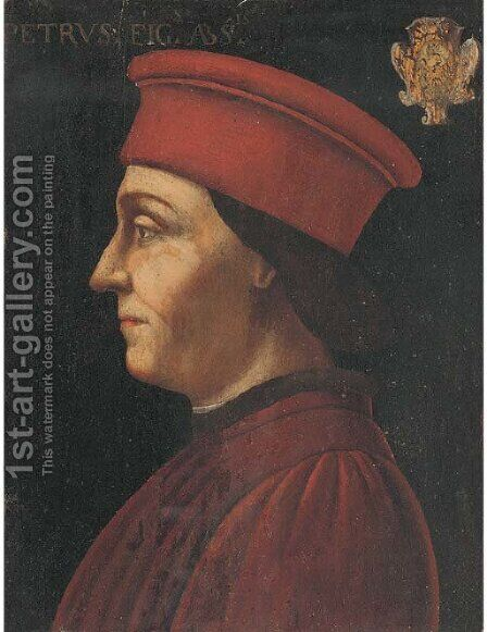 Portrait of a gentleman by (after) Piero Della Francesca - Reproduction Oil Painting