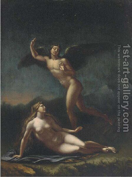 Cupid and Psyche by (after) Pierre-Paul Prud'hon - Reproduction Oil Painting