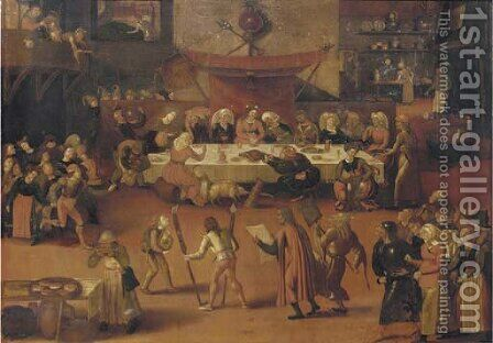 A wedding feast by (after) Peeter Baltens - Reproduction Oil Painting