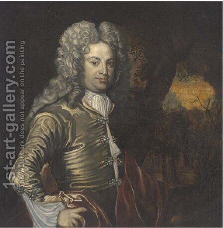 Portrait of a gentleman by (after) Pieter Borsselaer - Reproduction Oil Painting