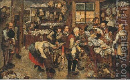 The Payment of the Tithes by (after) Pieter The Younger Brueghel - Reproduction Oil Painting