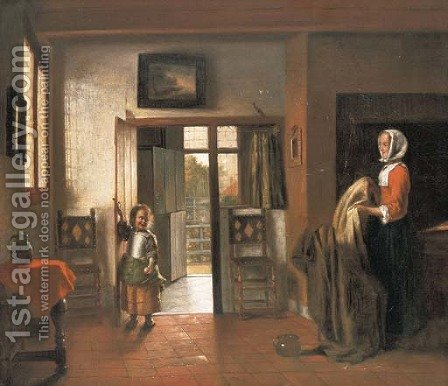 The Bedroom by (after) Pieter De Hooch - Reproduction Oil Painting