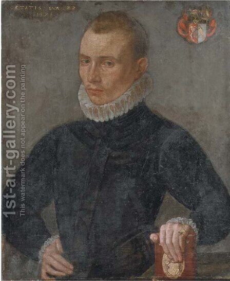 Portrait of a gentleman by (after) Pieter Jansz. Pourbus I - Reproduction Oil Painting