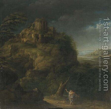 The Tempel of Vesta by (after) Pieter Meulener - Reproduction Oil Painting