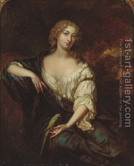 Portrait of a lady by (after) Pieter Nason - Reproduction Oil Painting
