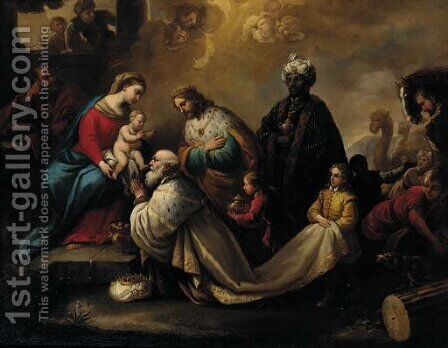 The Adoration of the Magi by (after) Pietro Da Cortona (Barrettini) - Reproduction Oil Painting