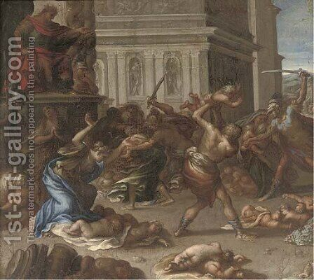 The Massacre of the Innocents by (after) Pietro Testa - Reproduction Oil Painting