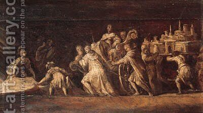 Triumphal processions by (after) Polidoro Da Caravaggio (Caldara) - Reproduction Oil Painting