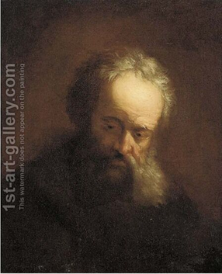 A tronie of an old man by (after) Rembrandt Van Rijn - Reproduction Oil Painting