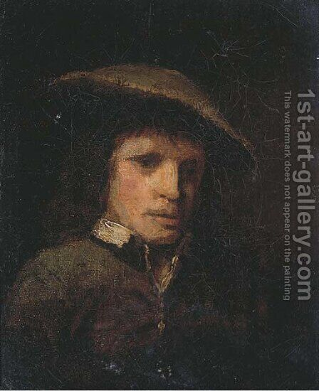 Portrait of a man by (after) Rembrandt Van Rijn - Reproduction Oil Painting