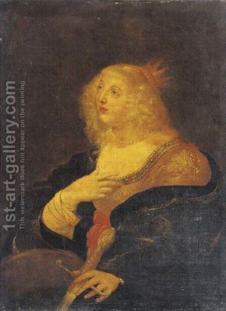 Saint Catherine of Alexandria by (after) Rembrandt Van Rijn - Reproduction Oil Painting