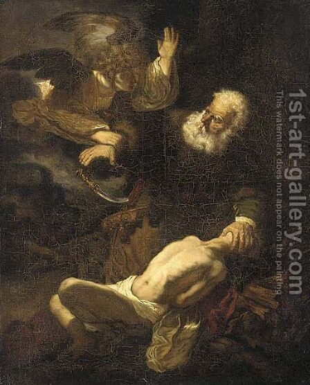 The Sacrifice of Isaac by (after) Rembrandt Van Rijn - Reproduction Oil Painting