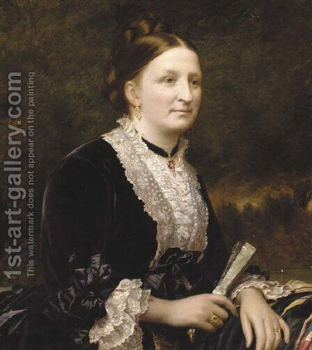 Portrait of Mrs Henry Illingworth by (after) Richard Buckner - Reproduction Oil Painting