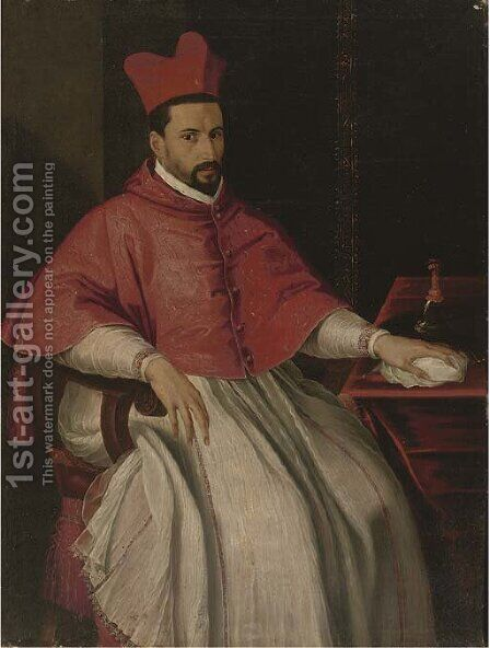 Portrait of a Cardinal 2 by (after) Scipione Pulzone - Reproduction Oil Painting