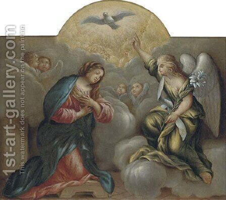 The Annunciation by (after) Sebastiano Conca - Reproduction Oil Painting