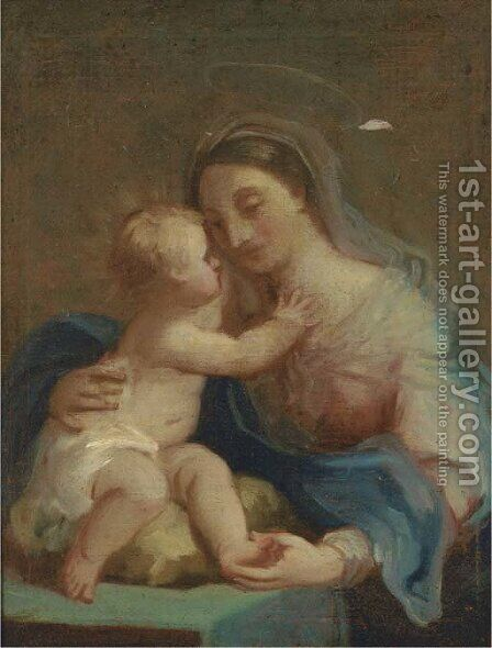 The Madonna and Child by (after) Sebastiano Conca - Reproduction Oil Painting