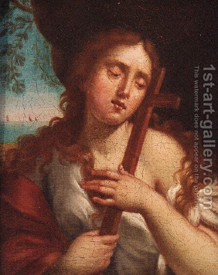The Penitent Magdalen by (after) Sebastiano Conca - Reproduction Oil Painting
