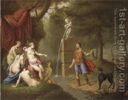 Diana and Actaeon by (after) Sebastien Leclerc, Called Leclerc Des Gobelins - Reproduction Oil Painting