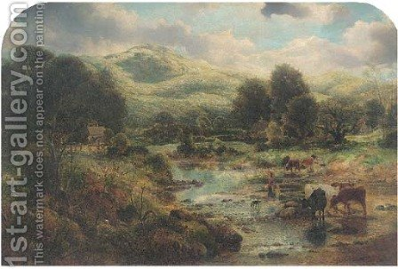At Bettws-y-coed, North Wales by (after) Sidney Richard Percy - Reproduction Oil Painting