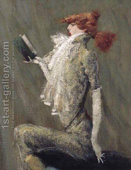 A caricature of Sarah Bernhardt by (after) Simon Bussy - Reproduction Oil Painting