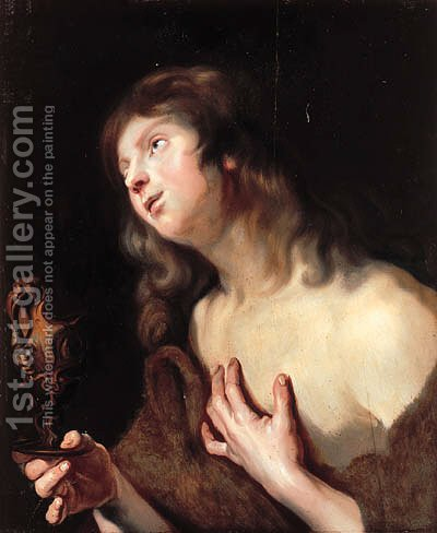 Saint John the Evangelist by (after) Dyck, Sir Anthony van - Reproduction Oil Painting
