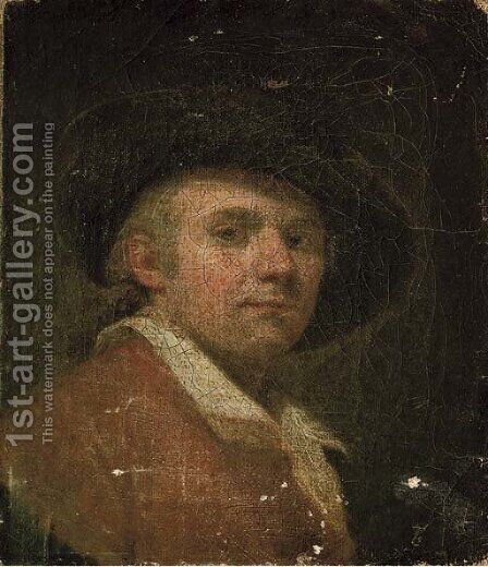 Portrait of a gentleman 2 by (after) Sir Joshua Reynolds - Reproduction Oil Painting