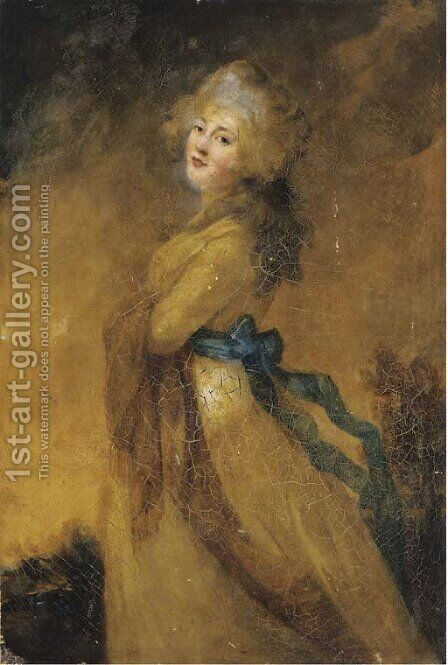 Portrait of a lady by (after) Sir Joshua Reynolds - Reproduction Oil Painting