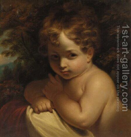 A young child by (after) Sir Joshua Reynolds - Reproduction Oil Painting