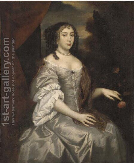 Portrait of a Lady Underhill by (after) Sir Peter Lely - Reproduction Oil Painting