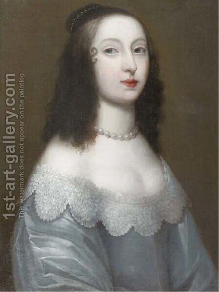 Portrait of Mary, Princess of Orange (1631-1660) by (after) Sir Peter Lely - Reproduction Oil Painting