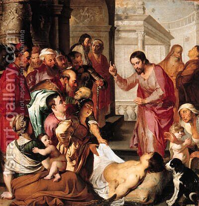 Christ at the Pool of Bethesda by (after) Sir Peter Paul Rubens - Reproduction Oil Painting