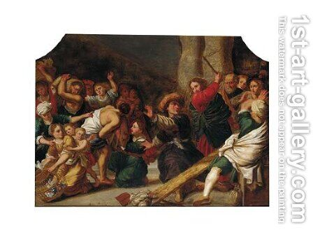 Christ driving the money-changers from the Temple by (after) Sir Peter Paul Rubens - Reproduction Oil Painting