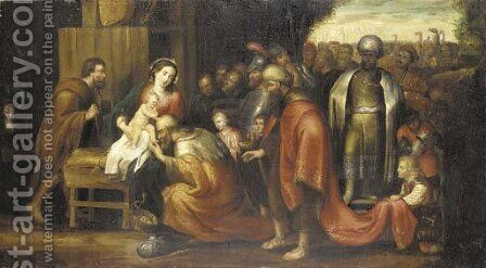 The Adoration of the Magi 5 by (after) Sir Peter Paul Rubens - Reproduction Oil Painting