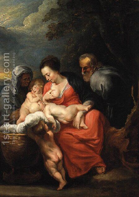 The Holy Family 2 by (after) Sir Peter Paul Rubens - Reproduction Oil Painting