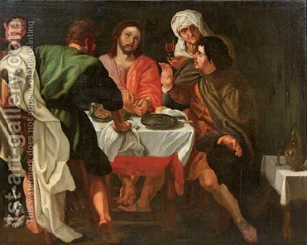 The Supper at Emmaus by (after) Sir Peter Paul Rubens - Reproduction Oil Painting