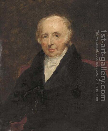 Portrait of a gentleman, traditionally identified as William Robinson, of Portstewart, Co. Derry, Northern Ireland, seated half-length by (after) Lawrence, Sir Thomas - Reproduction Oil Painting
