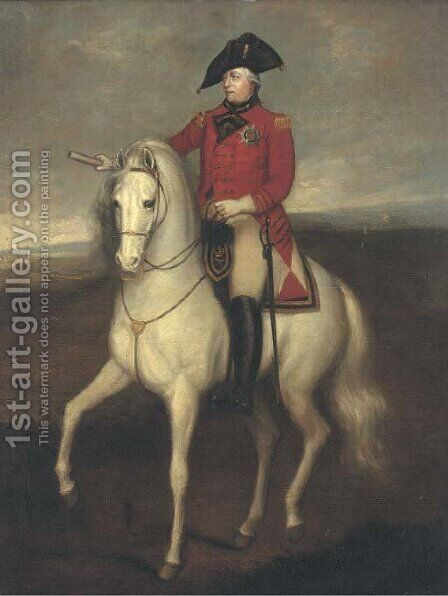 Equestrian Portrait of King George III by (after) Sir William Beechey - Reproduction Oil Painting