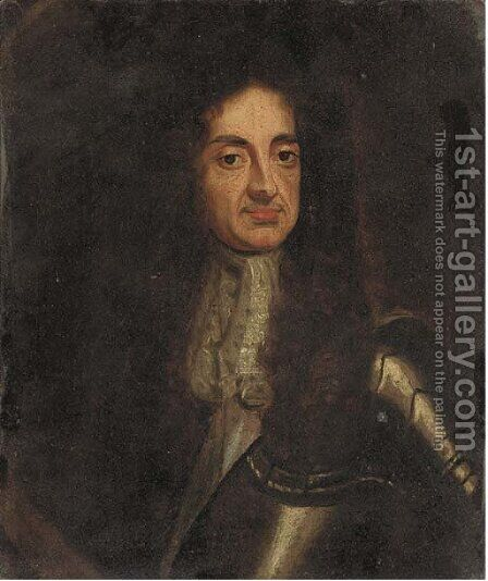 Portrait of Charles II, half-length, in armour by (after) Davis, Theodore Russell - Reproduction Oil Painting