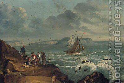 Landing The Catch by (after) Of Thomas Luny - Reproduction Oil Painting