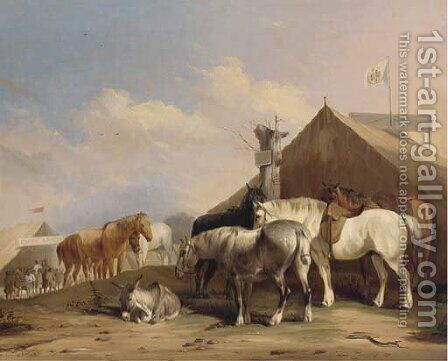 The horse fair by (after) Thomas Sidney Cooper - Reproduction Oil Painting