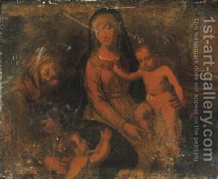 The Virgin and Child with Saint Anne and the Infant Saint John the Baptist by (after) Tiziano Vecellio (Titian) - Reproduction Oil Painting