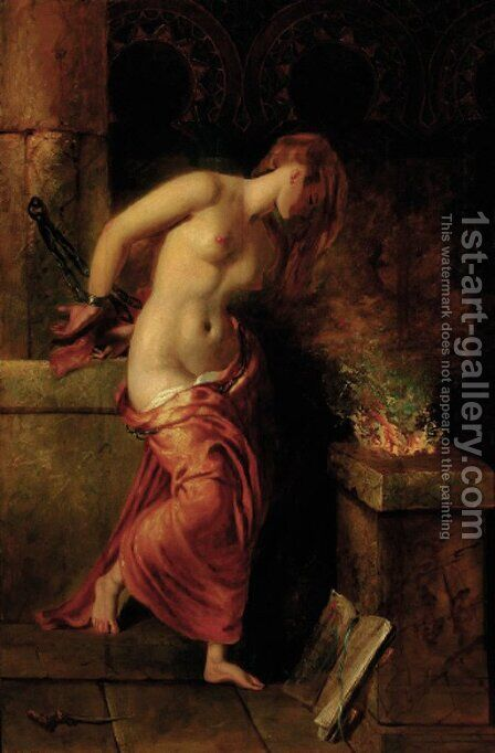 The Captive by (after) William Etty - Reproduction Oil Painting