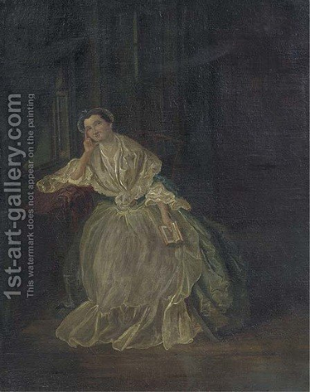 Portrait of a lady by (after) William Hogarth - Reproduction Oil Painting