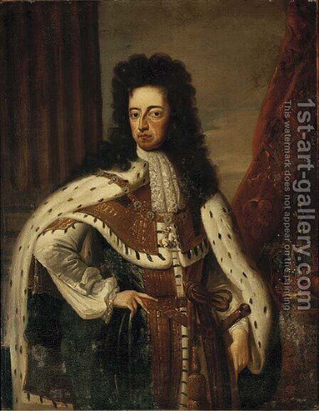 Portrait of King Charles II (1630-1685) by (after) William Wissing Or Wissmig - Reproduction Oil Painting