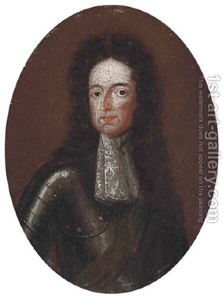 Portrait of William III by (after) William Wissing Or Wissmig - Reproduction Oil Painting