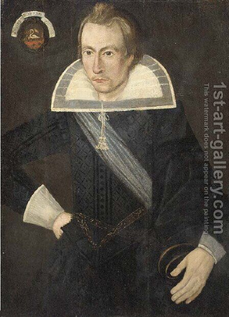 Portrait of a gentleman by (after) Wybrand Simonsz De Geest - Reproduction Oil Painting