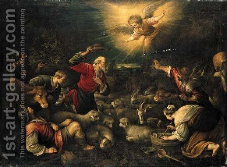 The Annunciation to the Shepherds by Jacopo Bassano (Jacopo da Ponte) - Reproduction Oil Painting