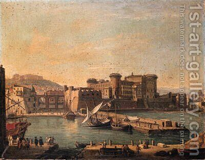 The Darsena, Naples by Caspar Andriaans Van Wittel - Reproduction Oil Painting