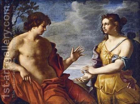 Apollo and the Cumaean Sibyl by Giovanni Domenico Cerrini - Reproduction Oil Painting